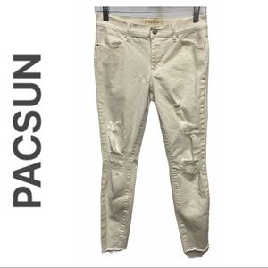 Pacsun White Super Stretch Ankle Jegging